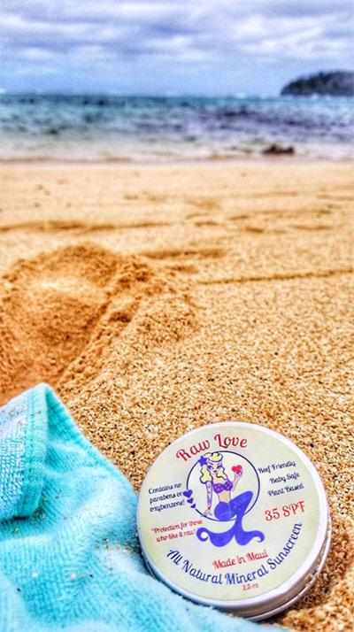 raw love sunscreen in Tonga